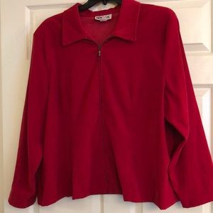 Holiday Red Faux Suede Jacket